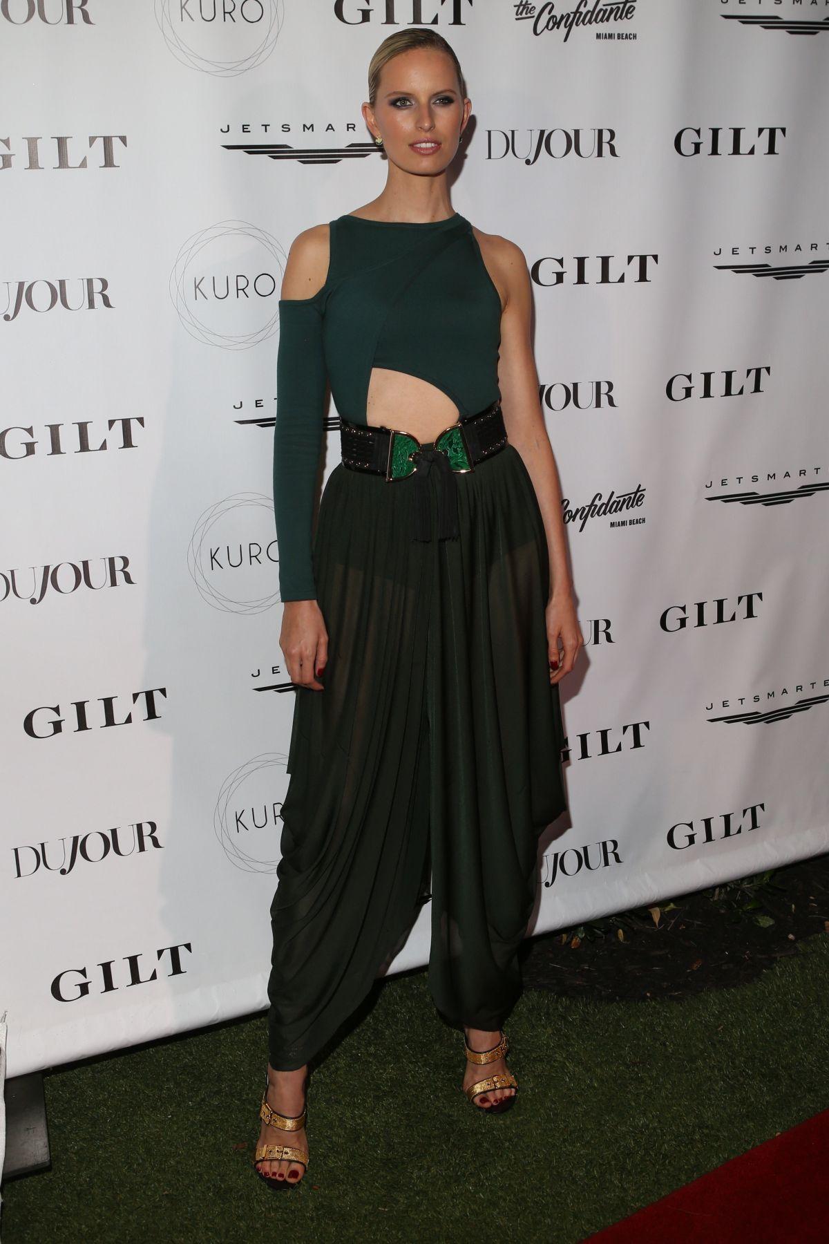 KAROLINA KURKOVA at Dujour Media, Gilt & Jetsmarter Party in Miami 12/01/2016