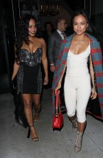 KARREUCHE TRAN and CHRISTINA MILIAN at Catch LA in West Hollywood 12/16/2016
