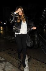 KATE BECKINSALE Out for Dinner at Craig