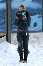KATE HUDSON Out and About in Aspen 12/30/2016