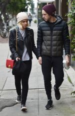 KATE MARA and Jamie Bell Out Shopping in West Hollywood 12/10/2016