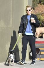 KATE MARA Walks Her Dog Out in Los Feliz 12/17/2016