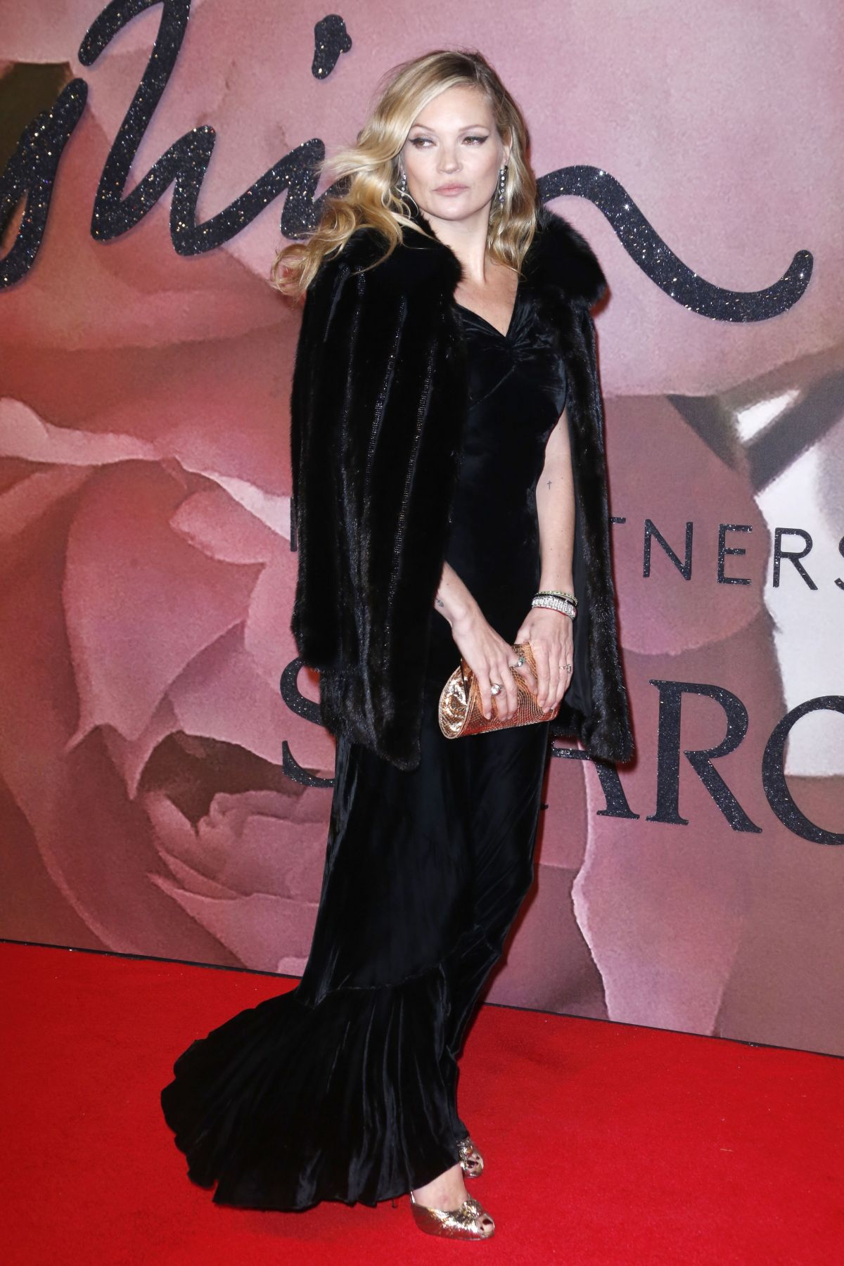 KATE MOSS at Fashion Awards in London 12/05/2016