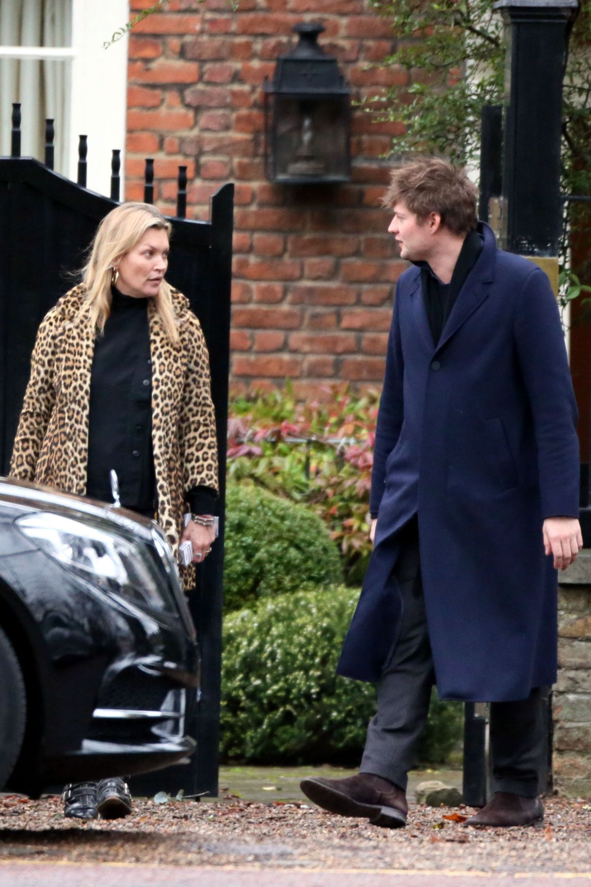 KATE MOSS Leaves Her Home in London 12/12/2016