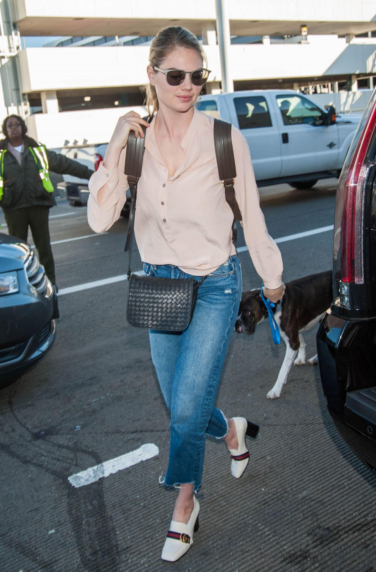 KATE UPTON at LAX Airport in Los Angeles 12/29/2016