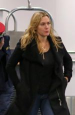 KATE WINSLET at Airport in Vancouver 11/28/2016