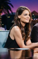KATIE HOLMES at The Late Late Show with James Corden in Los Angeles 12/15/2016