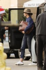 KATIE HOLMES at Westfield Topanga Mall in Canoga Park 12/21/2016