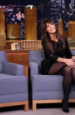 KATIE HOLMES on the Set of Tonight Show Starring Jimmy Fallon 12/06/2016