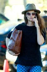KATIE HOLMES Out and About in Los Angeles 12/19/2016