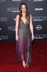 KATIE LECLERC at Rogue One: A Star Wars Story Premiere in Hollywood 12/10/2016