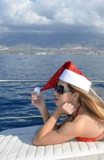 KATIE SALMON in Bikini on a Boat Trip in Spain 12/21/2016