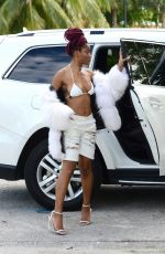 KEKE PALMER Arrives at a Boat Party in Miami 12/30/2016
