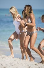 KELLY BENSIMON and MELISSA ODABASH at a Beach in Miami 12/29/2016