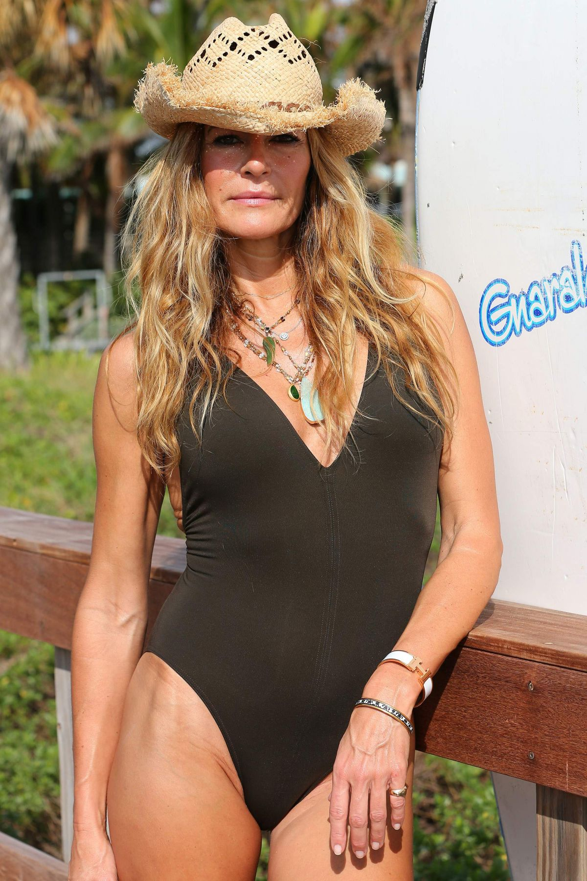KELLY BENSIMON in Swimsuit on Vacation in Palm Beach 12/21/2016