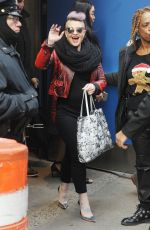 KELLY OSBOURNE Arrives at Good Morning America Studios in New York 12/21/2016