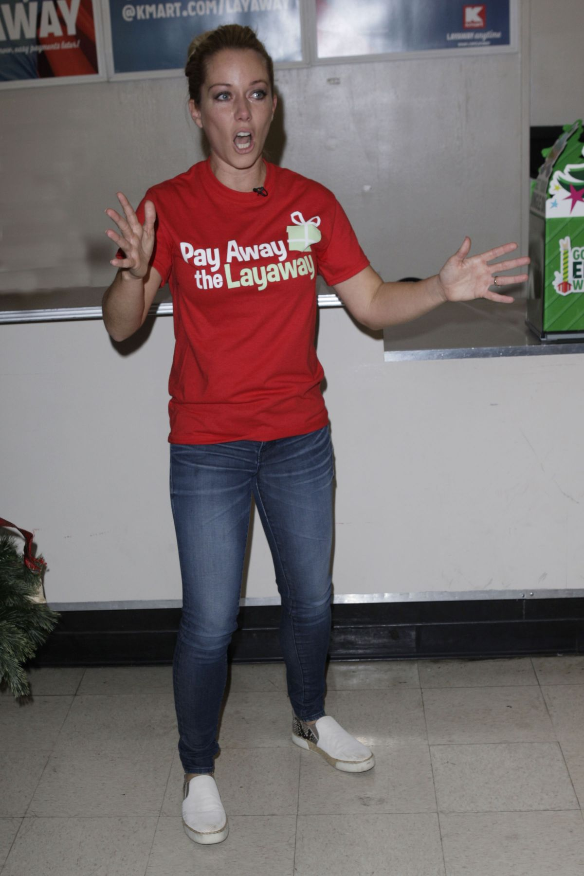 KENDRA WILKINSON Hosts Pay Away the Layaway Charity Event in Burbank 12/20/2016