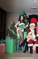 KENNEDY SUMMERS with Santa Claus in Los Angeles 12/21/2016