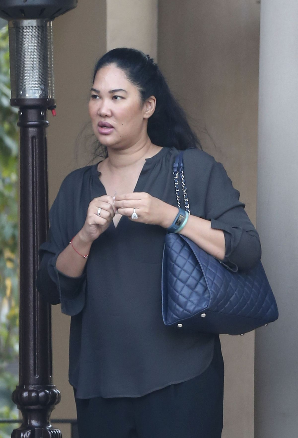KIMORA LEE Out for Lunch with Husband in Beverly Hills 12/14/2016