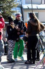 KYLE RICHARDS Takes a Ski Lift in Aspen 12/26/2016