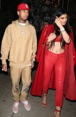 KYLIE JENNER and Tyga Out for Dinner in West Hollywood 12/09/2016
