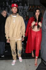 KYLIE JENNER and Tyge Out for Dinner in West Hollywood 12/09/2016