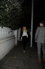 KYLIE MINOGUE Night Out in London 12/14/2016