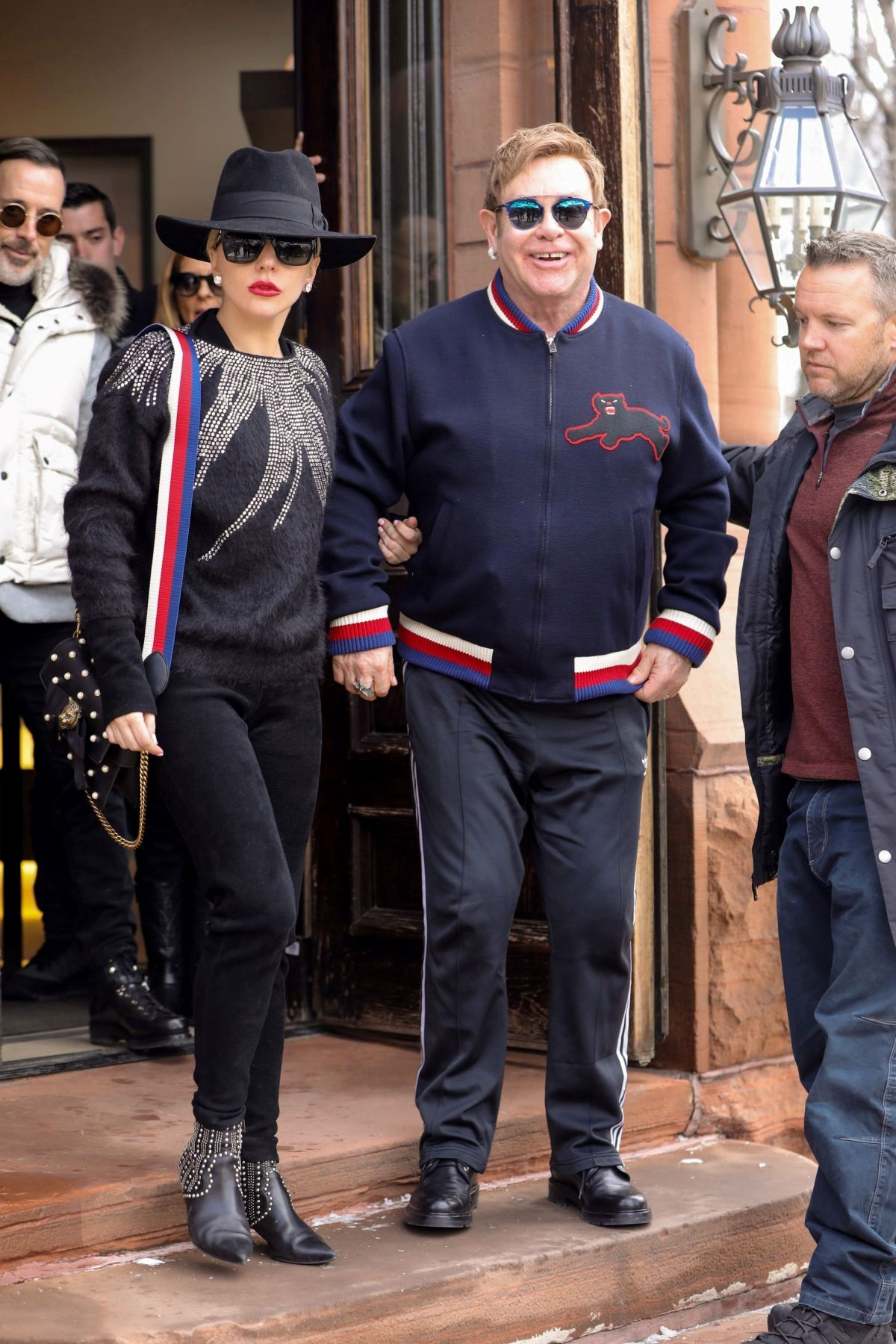 LADY GAGA and Elton John Out and About in Aspen 12/24/2016
