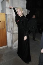 LADY GAGA Arrives at Her Hotel in London 12/02/2016