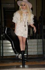 LADY GAGA Leaves Her Hotel in London 12/02/2016