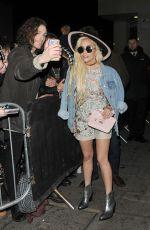 LADY GAGA Leaves Tape Nightclub in London 12/03/2016