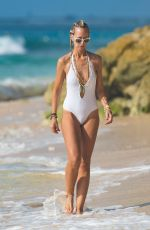 LADY VICTORIE HERVEY in Swimsuit at a Beach in Barbados 12/27/2016