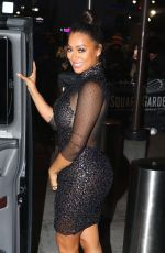 LALA ANTHONY Leaves Jingle Ball at Madison Square Garden in New York 12/09/2016