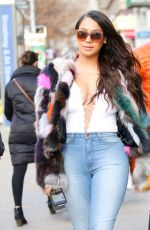 LALA ANTHONY Out and About in New York 12/23/2016