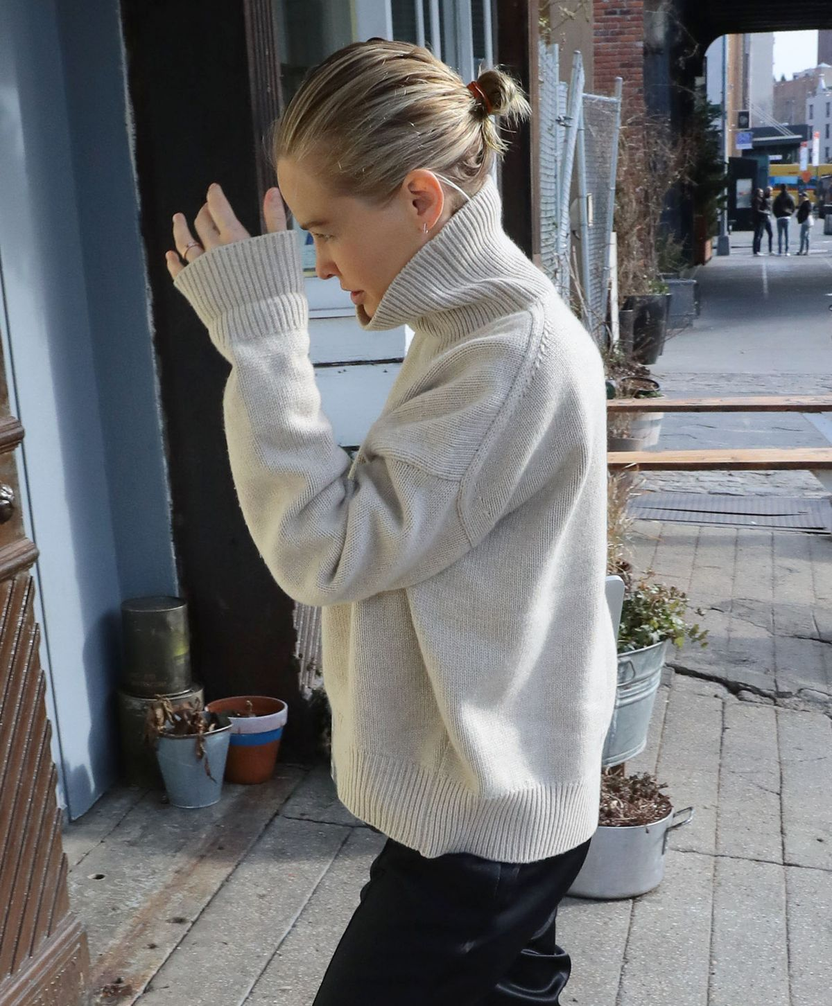 LARA BINGLE Out and About in New York 12/22/2016