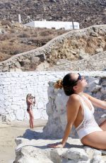 LAURYN GOODMAN in Swimsuit on the Beach in Mykonos 12/06/2016