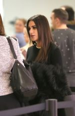 LEA MICHELE at LAX Airport in Los Angeles 12/02/2016