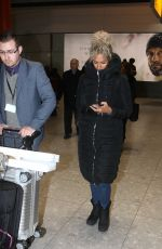 LEONA LEWIS at Heathrow Airport in London 12/23/2016