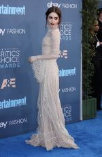 LILY COLLINS at 22nd Annual Critics