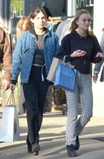 LILY-ROSE DEPP Out Shopping in Los Angeles 12/17/2016