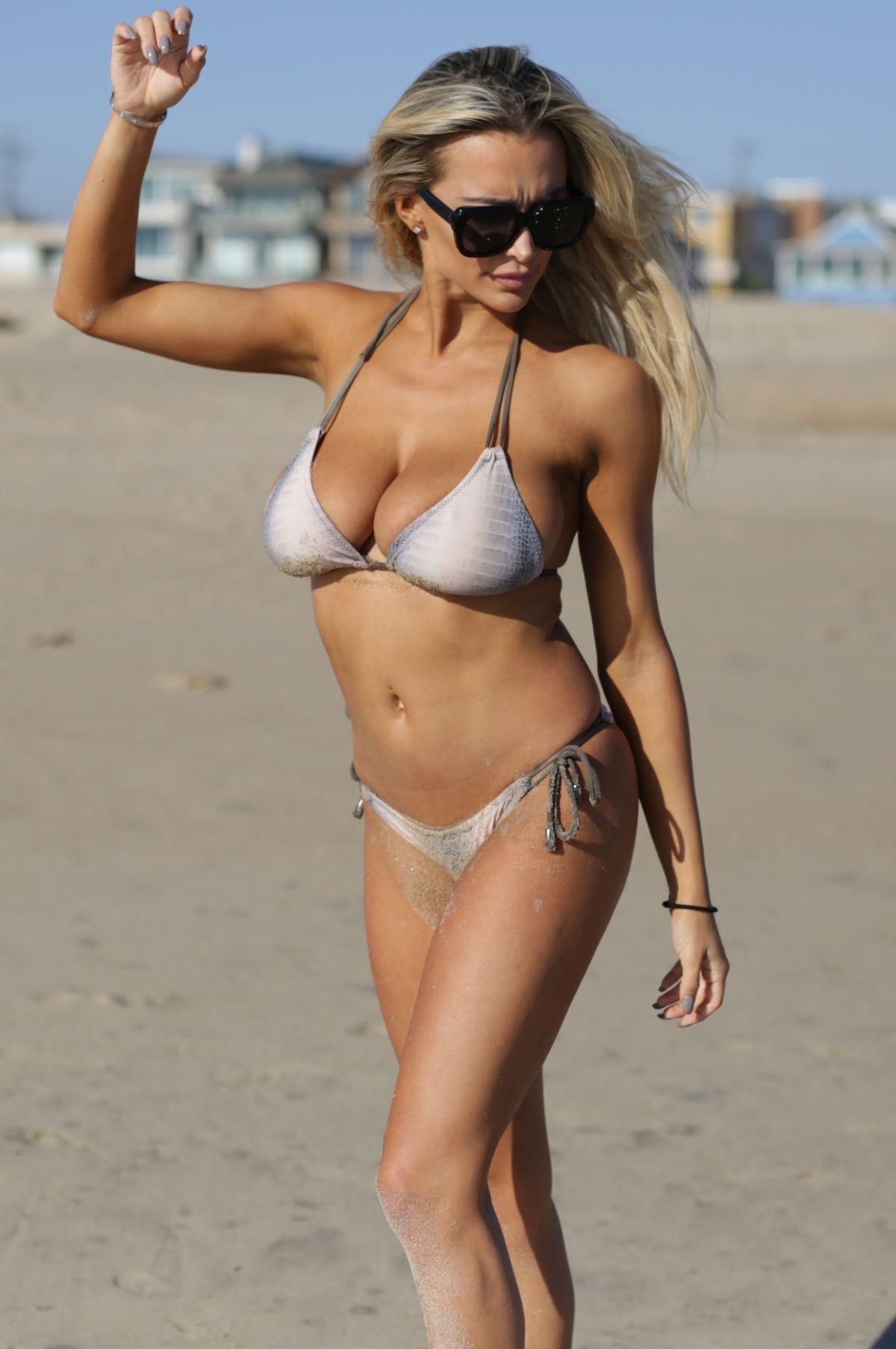 LINDSEY PELAS in Bikini at a Beach in Los Angeles 09/15/2016