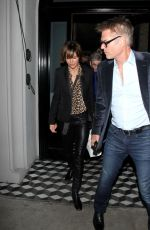 LISA RINNA Leaves a Restaurant in West Hollywood 12/22/2016