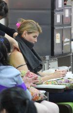 LORI LOUGHLIN at a Nail Salon in Beverly Hills 12/22/2016