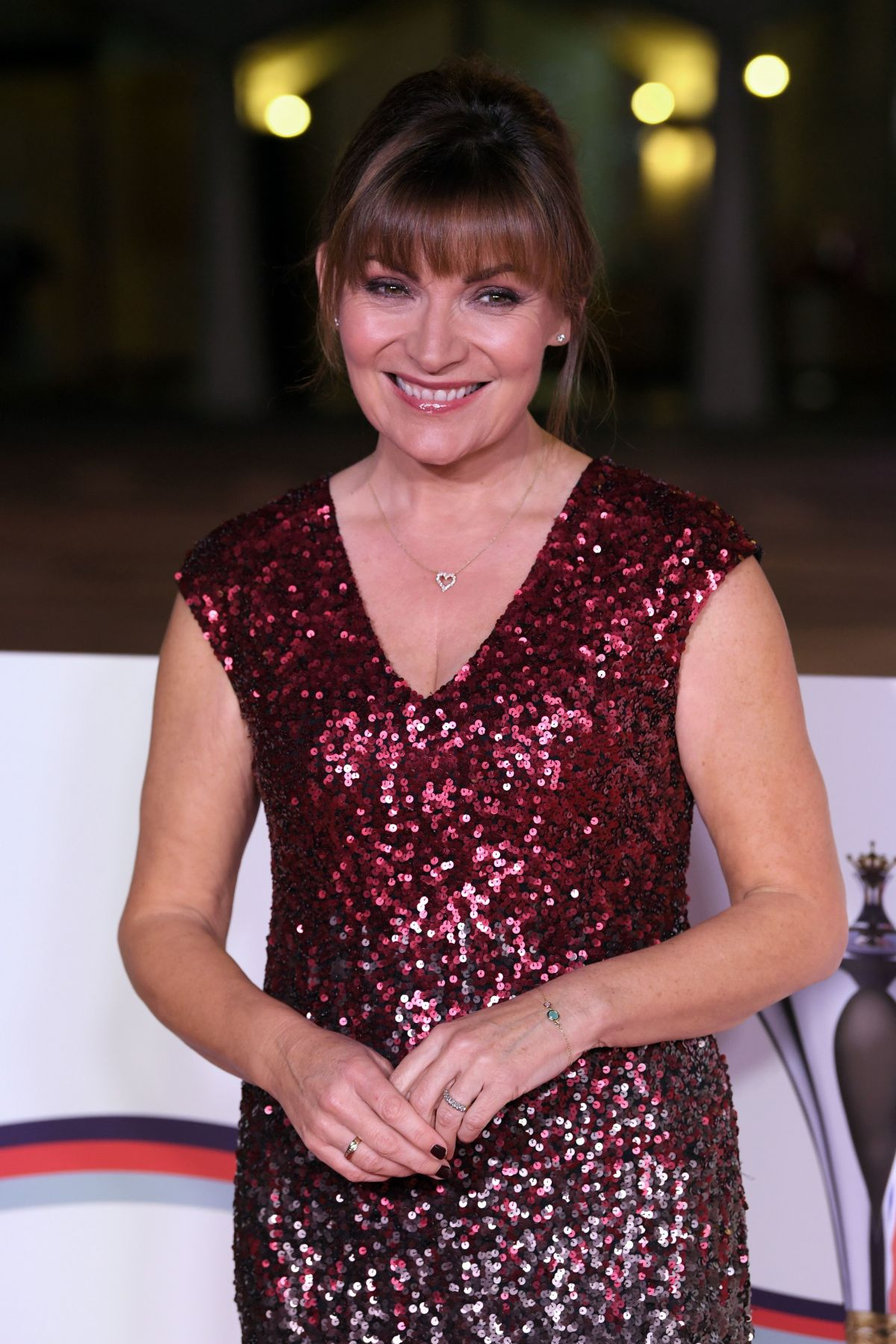LORRAINE KELLY at The Sun Military Awards in London 12/14/2016