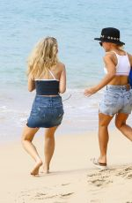 LOTTIE MOSS and JESS WOOLLEY in Bikinis on the Beach in Barbados 12/08/2016