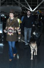 MAGGIE Q at JFK Airport in New York 12/28/2016