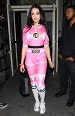 MARA TEIGEN  as Pink Power Ranger at Rae Sremmurd's Birthday Party in Los Angeles 12/29/2016