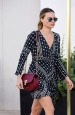 MARGOT ROBBIE Out anad About in Beverly Hills 12/07/2016