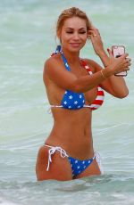 MARIA HERING in Bkini at a Beach in Miami 12/20/2016