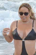 MARIAH CAREY in Swimsuit at a Beach in Maui 11/28/2016
